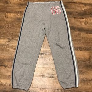PINK Victoria's Secret Gray Graphic Joggers XS/S